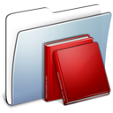 folder, graphite, library, smooth icon