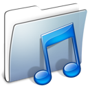 folder, graphite, music, smooth icon