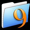 aqua, classic, folder, stripped icon