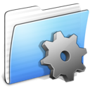 aqua, developer, folder, stripped icon