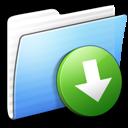 aqua, dropbox, folder, stripped icon