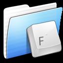 aqua, folder, fonts, stripped icon
