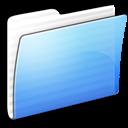 aqua, folder, generic, stripped icon