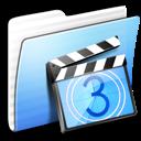 aqua, folder, movies, stripped icon