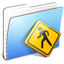aqua, folder, public, stripped icon