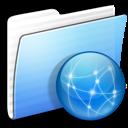 aqua, folder, sites, stripped icon