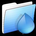 aqua, folder, stripped, torrents icon