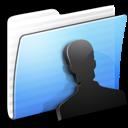 aqua, folder, stripped, users icon