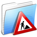 aqua, folder, stripped, works icon