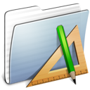 applications, folder, graphite, stripped icon