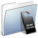 disturb, do, folder, graphite, not, stripped icon