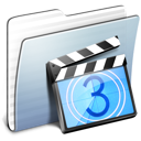 folder, graphite, movies, stripped icon
