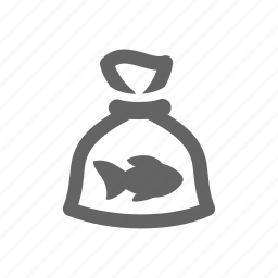 container, fish, fisher, package, pet shop, zoo icon
