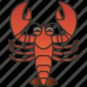crayfish, crustacean, lobster, marine, seafood icon