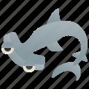 hammerhead, ocean, predator, dangerous, shark icon