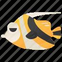 aquarium, bannerfish, longfin, reef, tropical icon