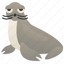 mammal, ocean, pinniped, seal, wildlife icon