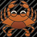 blue, crab, crustacean, sea, seafood icon