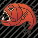 deep, fangtooth, fish, ocean, predator icon