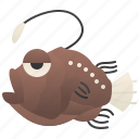abyssal, angler, fish, ocean, predator
