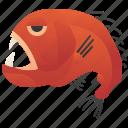 deep, fangtooth, fish, ocean, predator