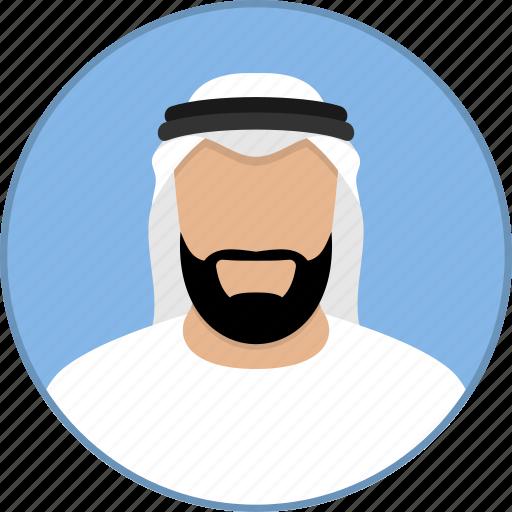 arab, arabic, avatar, islam, man, muslim, religion icon