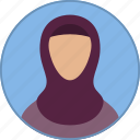 arab, arabic, avatar, islam, muslim, religion, woman icon