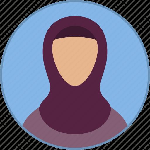 arab, arabic, avatar, islam, muslim, religion, woman icon