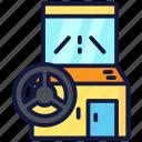 arcade, car, gaming, wheel