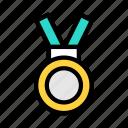 medal, success, winner, award, champion