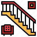 home, progress, stairs, up icon