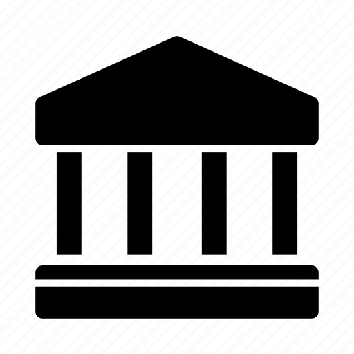 bank, banking, institution, library icon