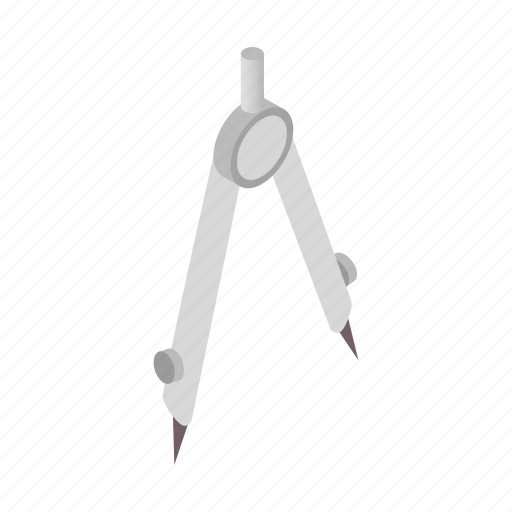 architecture, compass, drawing, geometry, isometric, ruler, tool icon