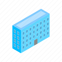 architecture, building, business, glass, isometric, modern, office icon
