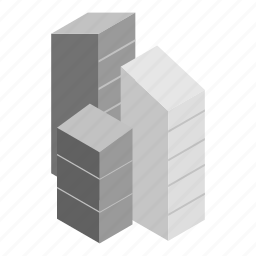 architecture, building, house, isometric, office, skyscraper, town icon