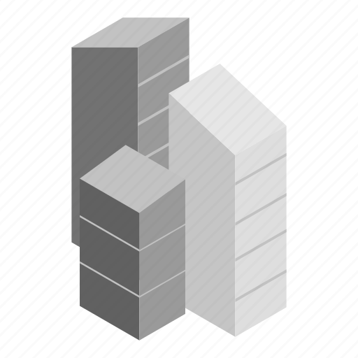 Building, town, isometric, office, house, architecture, skyscraper icon