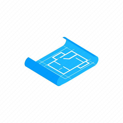 Business, concept, construction, isometric, paper, plan, tool icon - Download on Iconfinder