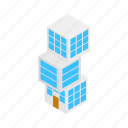 building, business, creative, cube, isometric, modern, square icon