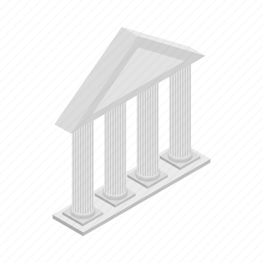 Ancient, architecture, building, front, isometric, pillar, temple icon - Download on Iconfinder