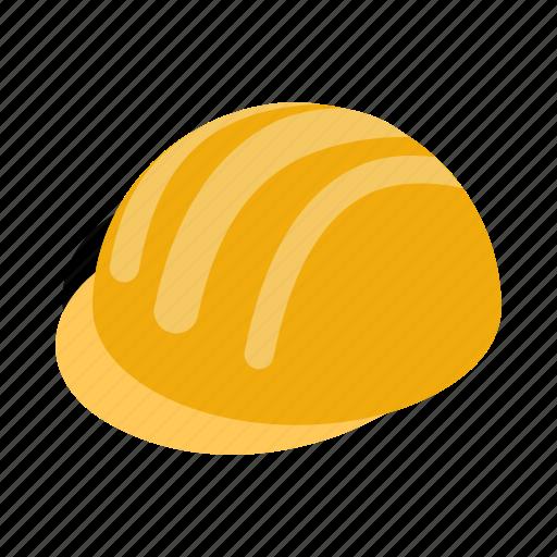 hard, hat, head, helmet, isometric, plastic, safe icon