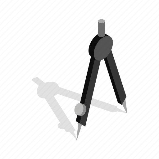 compass, drafting, drawing, engineer, engineering, isometric, tool icon