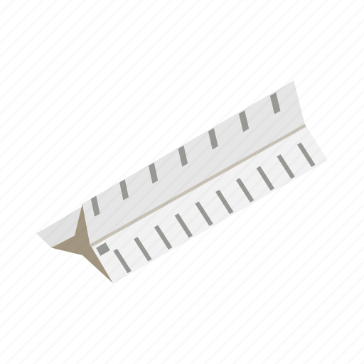 equipment, inch, isometric, line, ruler, scale, tool icon