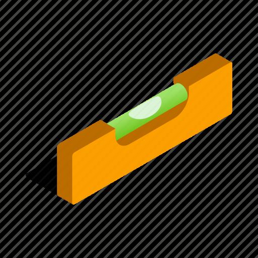 balance, builder, building, isometric, level, measurement, tool icon