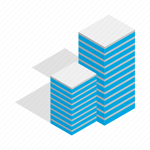 apartment, architecture, building, business, home, house, isometric icon