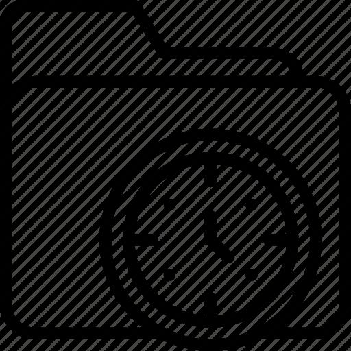 archive, document, folder, management, time icon