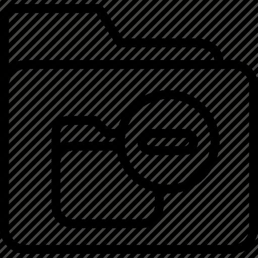 archive, folder, office, remove icon