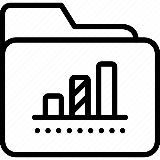 archive, bar, chart, data, folder, report icon