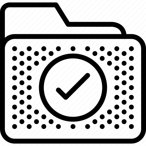 archive, check, folder, mark icon