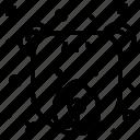 bear, northern, snow, winter icon