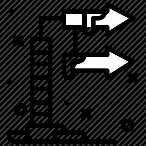pole, sign, snow, winter icon